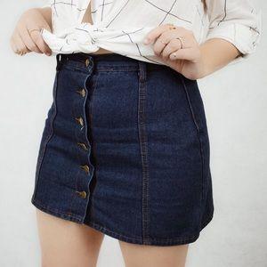Debbie denim button down skirt 🌞